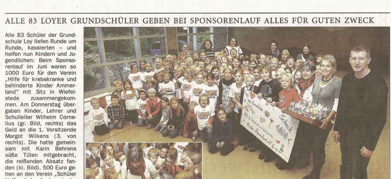 Nordwest-Zeitung, 6. Nov. 2009